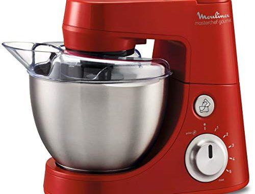 Moulinex Qa408gb1 Robot Pâtissier 4l 900w Rouge + Blender 1.5l Masterchef Gourmet