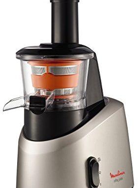 Moulinex Zu255b10 Extracteur De Jus Infiny Juice Pressoir Fruits Et Légumes 82 Tours/minute Centrifugeuse Pression à Froid Silencieux 200w Gris