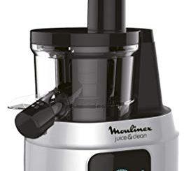 Moulinex Zu420e10 Extracteur De Jus Juice & Clean Fruits Et Légumes Nettoyage Automatique Pressoir 150w De 42 à 83 Tours / Minute Confiture Coulis Sorbet Aluminium