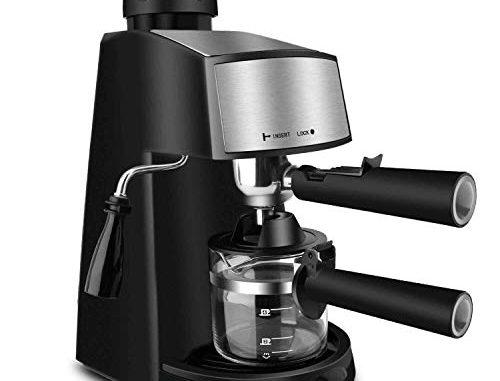 Oneday Cafetiere Expresso Machine A Cafe 4 Tasses 800w 240ml Cafetiere Italienne Avec Mousseur à Lait Machines à Expresso