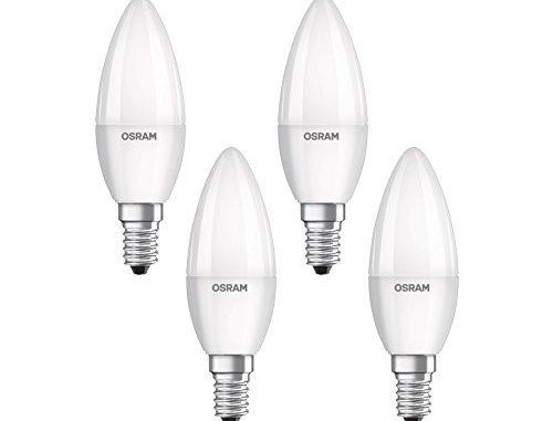 Osram Ampoule Led Plastique 5,0 = 40 Watt W E14 Blanc Chaud, 4 Pièces