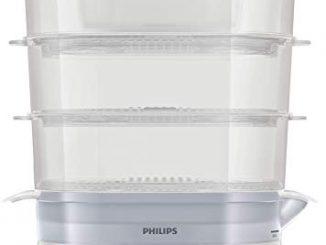 Philips Hd9125/90 Cuiseur Vapeur Avec Infuseur D'arômes, 3 Paniers, Capacité 9 L, Sans Bpa