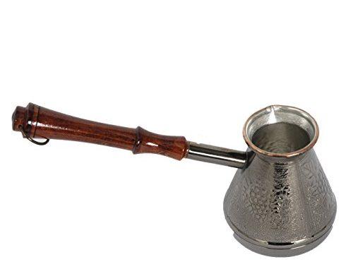 Pot à Café/cafetière Manuelle Turka Cuivre étamé 250 Ml Camping, Plein Air Ou Maison Utilisable Sur Tous Feux Sauf Induction