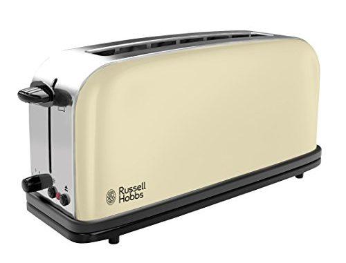 Russell Hobbs 21395 56 Toaster Grille Pain Colours, Fente Large Spécial Baguette, 6 Niveaux De Brunissage, Décongèle, Réchauffe Crème