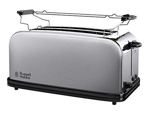 Russell Hobbs 23610 56 Toaster Grille Pain Adventure, 2 Longues Fentes Spécial Baguette, 6 Niveaux De Brunissage, Chauffe Viennoiserie