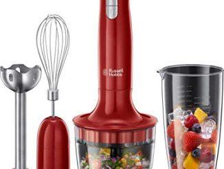 Russell Hobbs 24700 56 Mixeur Plongeant Multifonction 3en1 Desire 500ml, Mélange, Hache, Fouette, Mixe, Compatible Lave Vaisselle