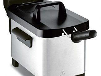 Tefal Fr331070 Friteuse Semi Pro Easy Pro 3l Zone Froide Et Couvercle De Rangement Gris/noir