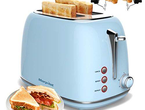 Toaster Grille Pain 2 Fentes Rétro Acier Inoxydable,morpilot 6 Niveaux Réglables,3 En 1 De Fonctions De Grille Pain,décongeler,réchauffer,815w Rapide Fonction