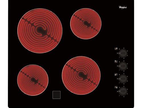 Whirlpool Akm9010ne Plaque Plaques (intégré, Céramique, Verre Céramique, Noir, Rotatif, En Haut à Droite)