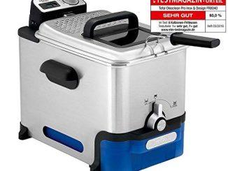 Friteuse Pro Seb Fr804000 Oleoclean Pro Timer3,5l filtrationautomatique De L'huile + Mineur Digital + Hublot De Contrôle + Thermostat Réglable + Boite De Stockage D'huile, Inox