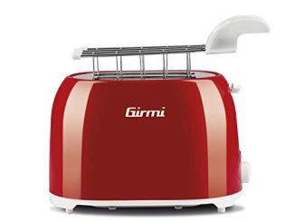 Girmi Tp1002grille Pain, 750watts, Plastique, Rouge