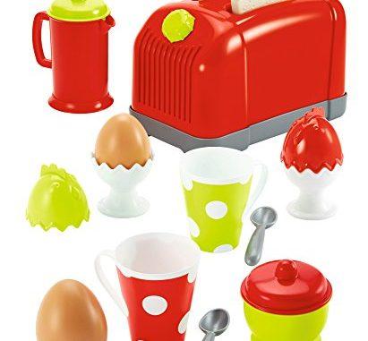 Jouets Ecoiffier 1231 Coffret Toaster + Petit Déjeunerpour Enfants 17 Pièces Dès 18 Mois Fabriqué En France
