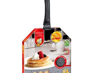 Kitchen Pro Crêpière En Pierre Diamètre 26 Cm Tous Feux Dont Induction + 2 Disques Anti Rayures