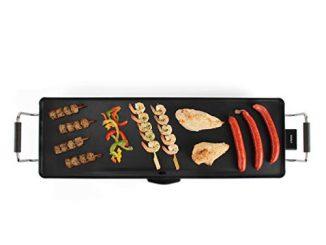 Livoo Dom231 Plancha Électrique Teppan Yaki | Plancha De Table, Grande Surface, Grill De 90 Cm | Thermostat Réglable | 1800 Watts