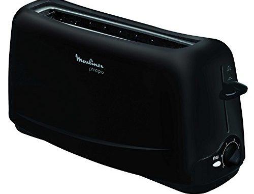 Moulinex Grille Pain Principio Toaster Fentes Larges Thermostat Réglable Noir 1000w Tl110800