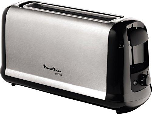 Moulinex Ls260800 Grille Pain Toaster Subito Longue Fente Décongélation Réchauffage Thermostat Réglable Noir Inox 1000w