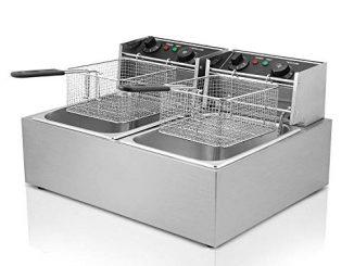 Olibelle 5000w 12l Friteuse Electrique En Inox Fryer Friteuse Cuve Avec Réservoir Amovible