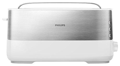Philips Viva Collection Hd2692/00grille Pain 1 Tranche 1030w Métallique, Blanc(métal, Plastique, Boutons Rotatifs, 0,85m)
