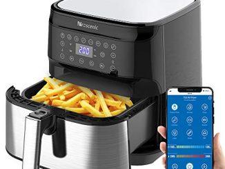 Proscenic T21 Friteuse à Air,application Et Alexa,airfryer,friteuse électrique Sans Huile 5.5l,avec Écran Tactile Led,fonction De Combinaison.
