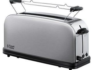 Russell Hobbs 21396 56 Toaster Grille Pain Adventure, Fente Large Spécial Baguette, 6 Niveaux De Brunissage, Fonction Décongèlation Inox