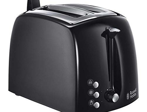Russell Hobbs 22601 56 Toaster Grille Pain Texture Fentes Larges Noir