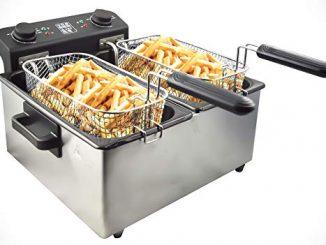 Senya Friteuse électrique Cuve Amovible Inox 6l Family Fryer Syck Df006, 1.6 Kilograms