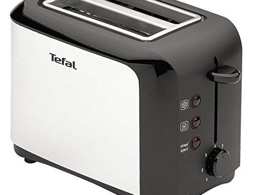 Tefal Tt356110 Grille Pain 2 Fentes Toaster Express Décongélation Réchauffage 7 Niveaux De Dorage 850w Inox Et Noir