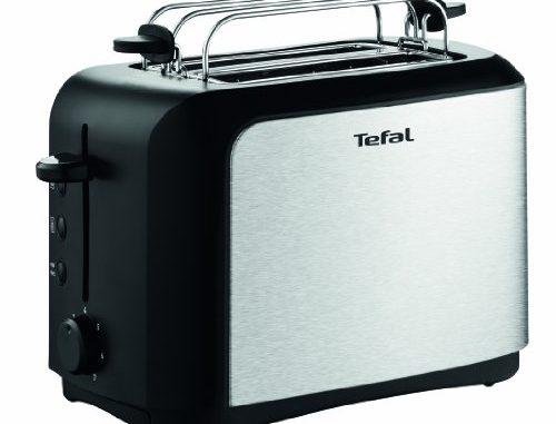 Tefal Tt3565 Grille Pains, 850 Watts, Noir/acier Inoxydable