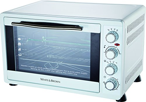 White & Brown Mf63 Four Multifonctions Mf63 55l 2200w Catalyse Minuteur Eclairage Blanc, 2200 W, 55 Liters, Blanc